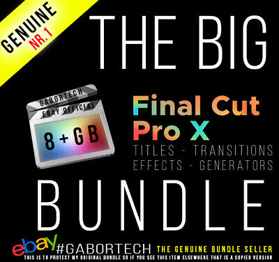 Final Cut Pro X - The 8+ GB Big Bundle. Effects, Generators, Titles, Transitions • 7.95£
