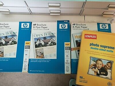 Huge Lot Of Professional Brochure Paper North American Letter Size (500 Sheets) • 65£