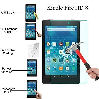 HD+ Genuine Tempered Glass LCD Screen Protector For AMAZON Kindle Fire HD 8.0 • 2.99£
