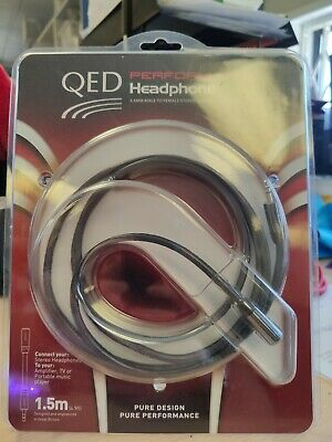 QED Performance Headphone 3.5mm Male To Female Extension Cable - 1.5m - NEW • 27.50£