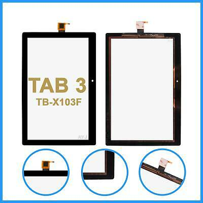 For Lenovo TAB 3 TB-X103F Touch Screen Digitizer Top Glass Front Lens  - Black • 13.99£