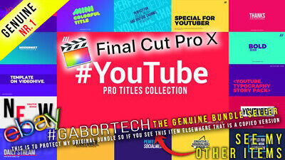 Final Cut Pro X - YouTube PRO Titles Collection • 3.95£