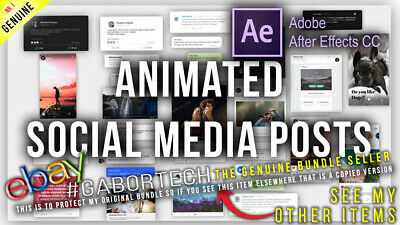 After Effects Project Files - Animated Social Media Posts • 4.95£