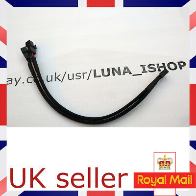 Braided Y Splitter 3/4 Pin PWM Fan Computer PC Fan Power Extension Cable Uk • 3.49£