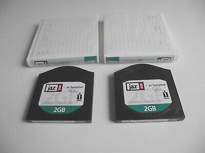 2 X Iomega JAZ 2GB Disks With Wallets - PC Format • 6.49£