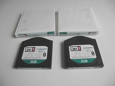 Iomega Jaz Disks 2GB With Wallets X 2 - PC Format • 11.99£