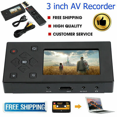 3inch VHS Camcorder Hi8 Tape Converter USB Audio Video Capture Recording Player • 51.16£