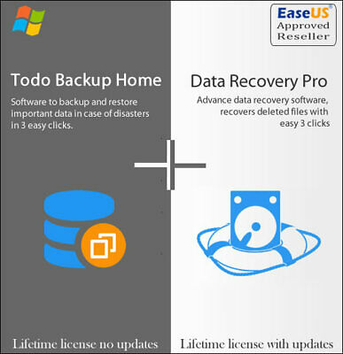 EaseUS Data Recovery 13.6  + ToDo Backup 13.2 - Lifetime Upgrades • 32£