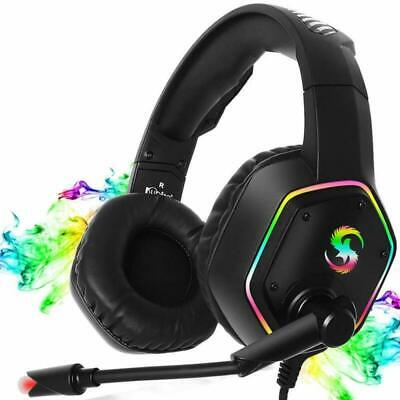 3.5mm Gaming Headset MIC LED Headphones For PC SW Laptop PS4 Slim Xbox One X S • 18.99£