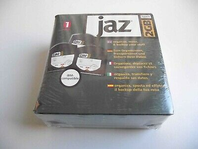 Pack Of 3 Iomega JAZ 2GB Disks With Wallets - PC - Sealed • 14.99£