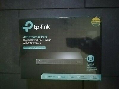 TP Link T1500G-10PS - 8 Port POE Switch • 65£