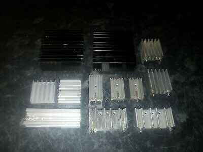 X12 Assorted Size Aluminium Heatsinks,Electronics,Cooling. • 11.90£