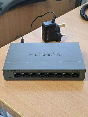 NETGEAR 8 Port Gigabit Switch GS308 • 3.20£