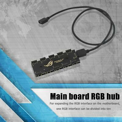 10 RGB Synchronization HUB Splitter Extension Cable For Motherboard RGB Fan UK • 4.79£