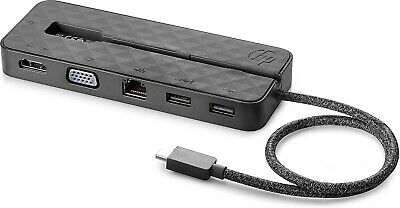 HP Mini Travel Dock/Hub For USB-C, Thunderbolt Compatible - Multiport - RRP £75 • 44£