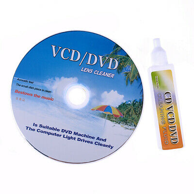 DVD CD Players Lens Cleaner VCD Disc Cleaning Kit Dry&Wet • 3.98£