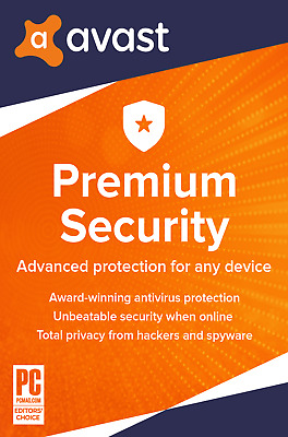 Avast PREMIUM SECURITY 2020, 10 Multi-Devices 1 Year - LATEST DOWNLOAD VERSION • 11.99£