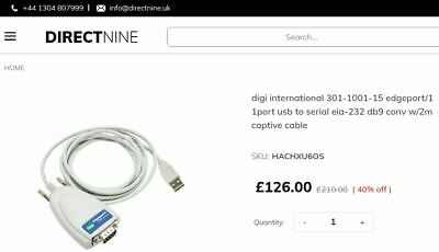 Edgeport USB To Serial Cable RRP £126 • 39.99£