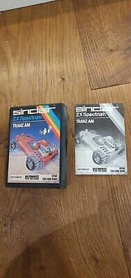 Rare Sinclair ZX Spectrum Tranx Am Cartidge Game Box With Instructions Only.  • 2.20£