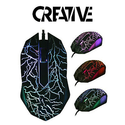 RGB LED Gaming Mouse - USB Wired Programmable 7 Button Gaming Mouse - PC Mac  • 12.99£