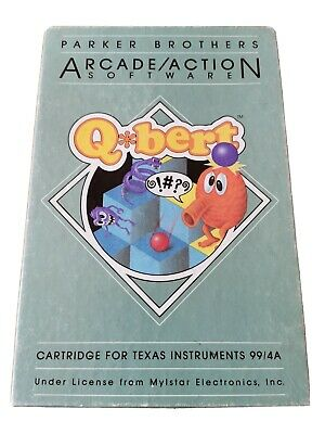 Texas Instruments TI99/4a Parker Brothers Q*Bert Boxed Game. • 19.99£