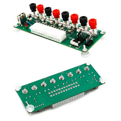 EY_ 20/24Pins ATX' Benchtop Power Board PC Computer Breakout Adapter Switch Modu • 7.98£