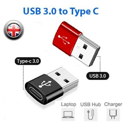 USB3.0 (Type-C) To USB 3.0 (USB A) Male Female Connector Converter Alloy Adapter • 2.75£