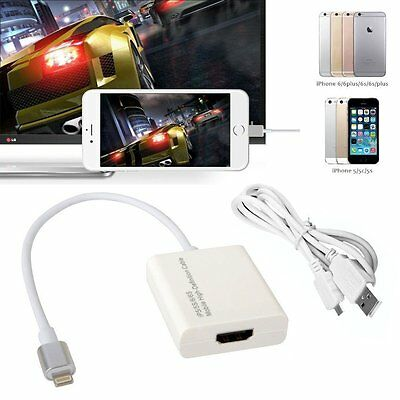 8-pin Lightning To HDMI Adapter SanboH High Definition 1080P Converter Iphone • 12.99£