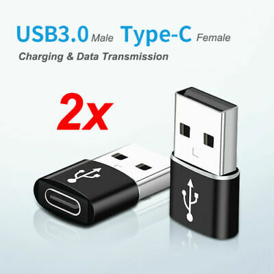 2X USB 3.1 Type C Female To USB A Male Adapter Converter Connector Alloy Adapter • 3.05£