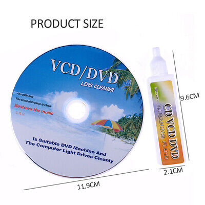 DVD CD Players Lens Cleaner VCD Disc Cleaning Kit Dry&Wet • 4.28£