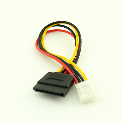15 Pin Female SATA ATA HDD Hardrive To 4 Pin FDD Floppy Disk Female Power Cable • 2.97£
