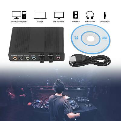 USB 6 Channel 5.1 External SPDIF Optical Digital Sound Card Audio Adapter For PC • 9.99£