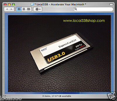 2 Port USB 3.0 ExpressCard 34 Adapter MacBook Pro 15 /17  *OS X Native Supported • 25.44£