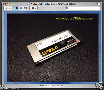 2 Port USB 3.0 ExpressCard 34 Adapter MacBook Pro 15 /17  *OS X Native Supported • 24.28£