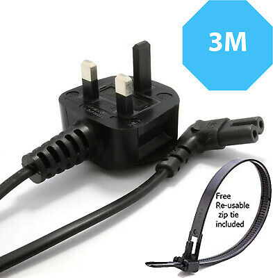 New Right Angle 3M Long Mains Power Cable For Samsung LED Flat TV  UK • 7.50£