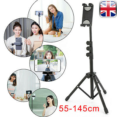 3 Sections Retractable Tablet Tripod Floor Stand For 12.9  Ipad Iphone Live Show • 14.99£
