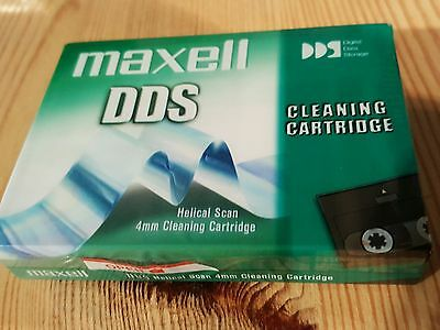 Maxell 4mm DDS DAT Tape Head Cleaning Cartridge - New, Sealed • 14.95£