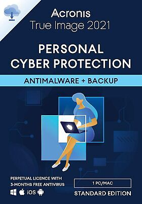 ACRONIS TRUE IMAGE 2020 - 1 DEVICE WINDOWS OR MAC - PERPETUAL LICENSE - Download • 26.99£
