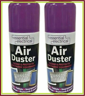3 X 200ml Compressed Air Can Duster Spray Protects Cleaner Laptops Keyboards New • 6.99£