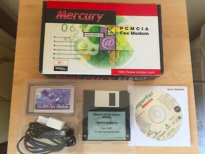 Vintage Collectable Mercury PCMCIA Fax Modem Boxed VGC • 3.70£