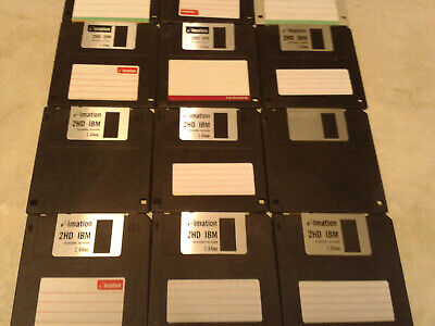 12 Assorted 3.5  Floppy Disks 1.44MB Used Formatted Clean • 9.99£