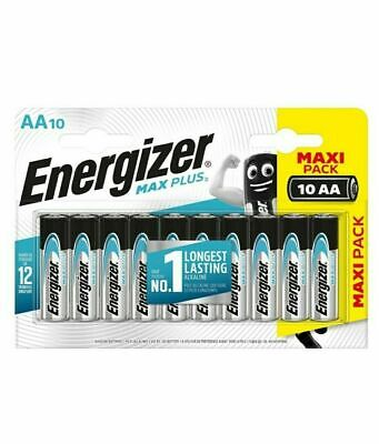 Energizer Max Plus Aa Batteries - Maxi Pack Of 10 - New & Sealed - Free Postage • 4.69£