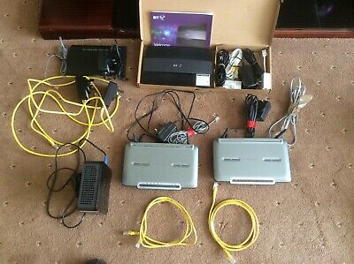Selection Of Used Routers, Power Plugs And Cables - All Power Up • 0.99£