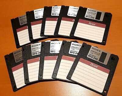 10 X 3.5  Sony 1.44mb HD Floppy Disks. Formatted And New Labels Applied. • 8.50£