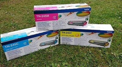 3 Brother Colour Toner Cartridges And One Brother Waste Toner Box • 150£