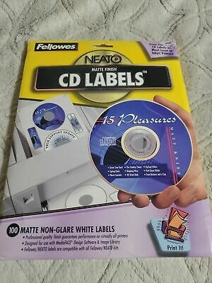 CD DVD Disc Labels Fellowes Neato Matte Finish Peel & Stick  99962 BRAND NEW • 9.99£