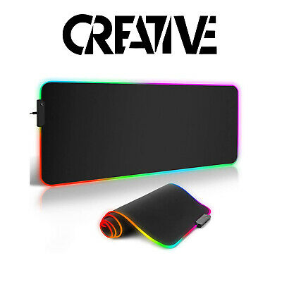 RGB Mouse Mat For Gaming Computer - LED Mouse Pad Multi Colour Gaming Mouse Matt • 14.99£