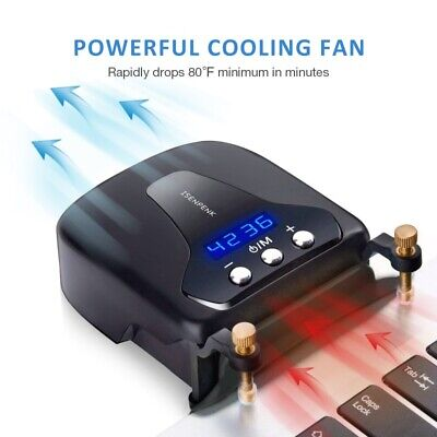 Smart Laptop Fan Read Fan Quickly Dissipate Heat Laptop Cooling Pad Quiet Fan • 9.80£