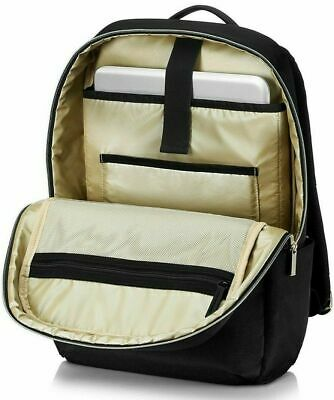HP Pavilion Accent Backpack 15.6  Laptop Bag Rucksack- Black / Gold • 19.99£