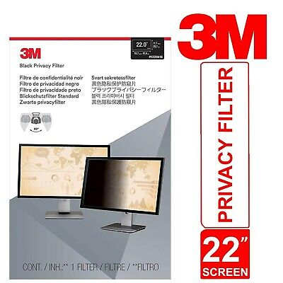 3M Privacy Filter For 22  Widescreen Monitor Desktop LCD PF22.0W Touch Sensitive • 83.55£